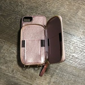 I phone 6s case with wallet / purse new